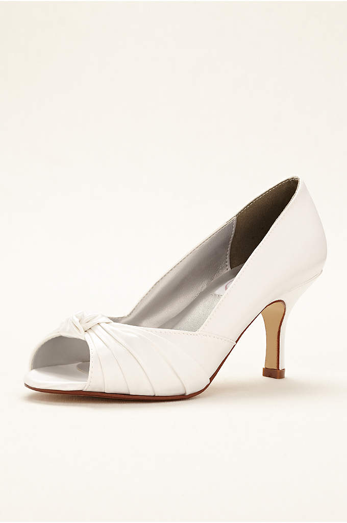 Ida Dyeable Peep Toe Pump - Ida is a dyeable peep toe pump features