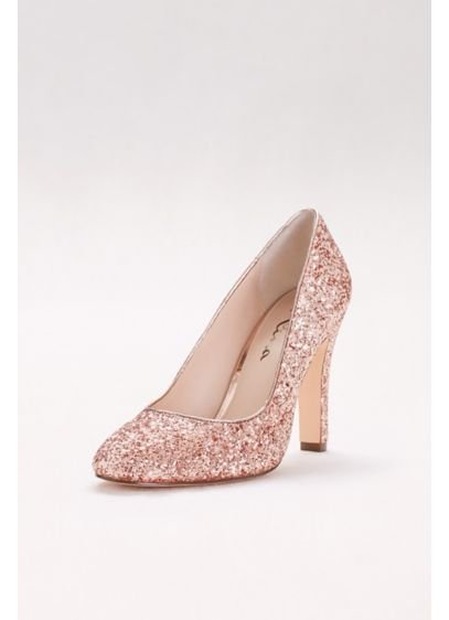 Touch of Nina Pink (Round-Toe Glitter Pumps) c0ff0bd95b52