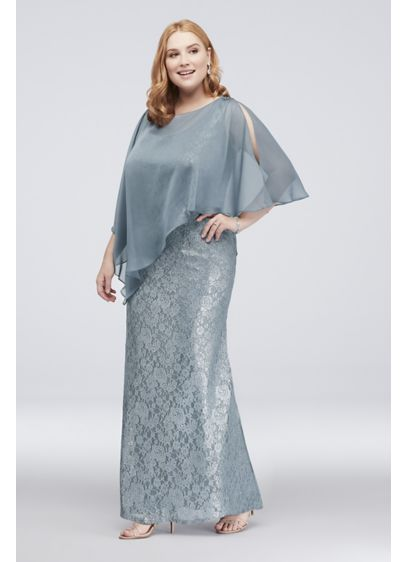Long Sheath Capelet Cocktail and Party Dress - Ignite