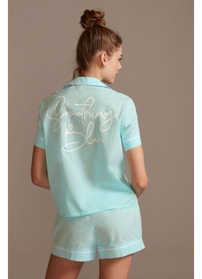 Blue (Something Blue Button Down Pajama Shorts Set)