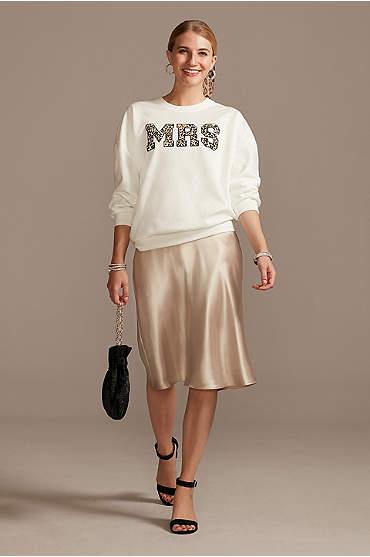 Mrs Leopard Print Crew Neck Sweatshirt