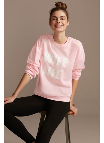 Pink (Wife Life Relaxed Fit Crew Neck Sweatshirt)