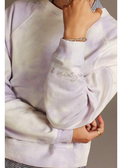 I Said Yes Lavender Tie-Dye Sweatshirt - This cool and comfy tie-dye sweatshirt sports a