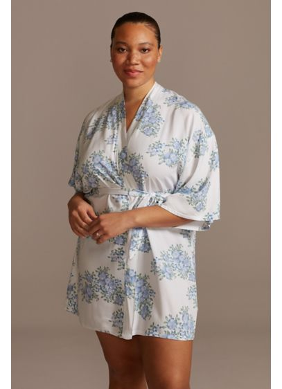 David's Bridal Blue (Blue Blooms Floral Robe)