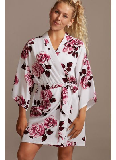 Wine Roses Floral Robe - Wedding Gifts & Decorations