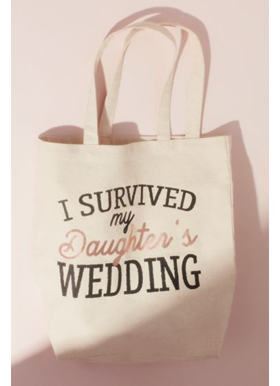 Beige (I Survived my Daughter's Wedding Canvas Tote Bag)
