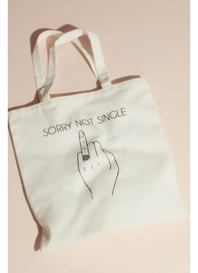 Sorry Not Single Ring Finger Canvas Tote Bag - You're not single and you aren't afraid to