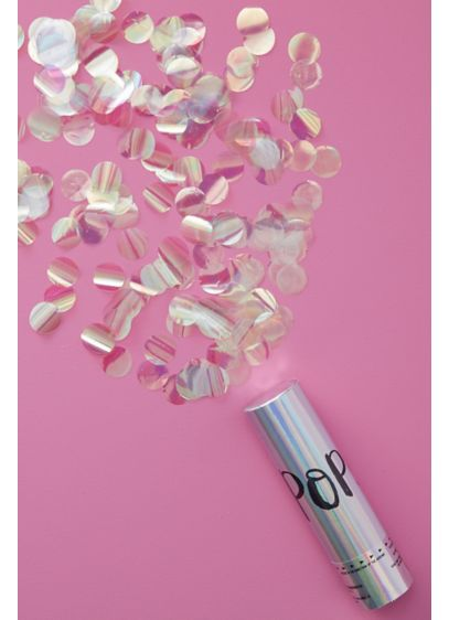 Iridescent Confetti Compressed Air Cannon - Wedding Gifts & Decorations