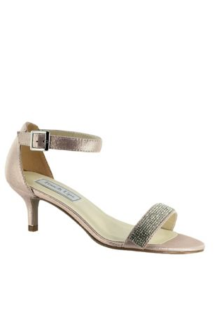 Touch Ups Beige;Blue;Grey Heeled Sandals (Jeweled Single Strap Mid-Heel Sandals)