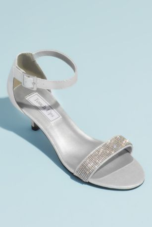 Touch Ups Beige;Blue;Grey Mid;Sandals (Jeweled Single Strap Mid-Heel Sandals)