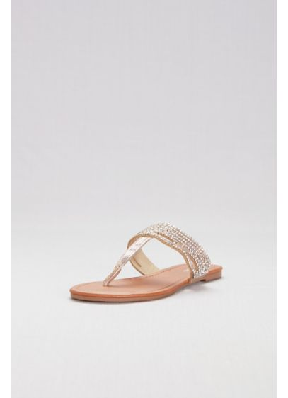 fd432ddb0 Crystal-Studded Thong Sandals