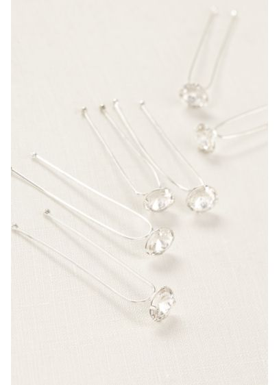 Set of Six Crystal Hairpins - Wedding Accessories