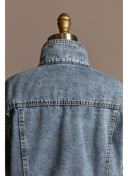Personalized Peek-A-Boo Denim Jacket - Pop the collar on this high quality denim