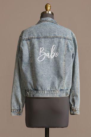 Babe Embroidered Denim Jacket