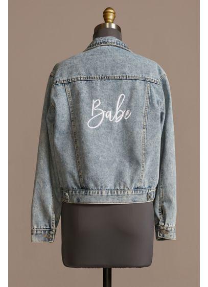 Babe Embroidered Denim Jacket - Wedding Gifts & Decorations