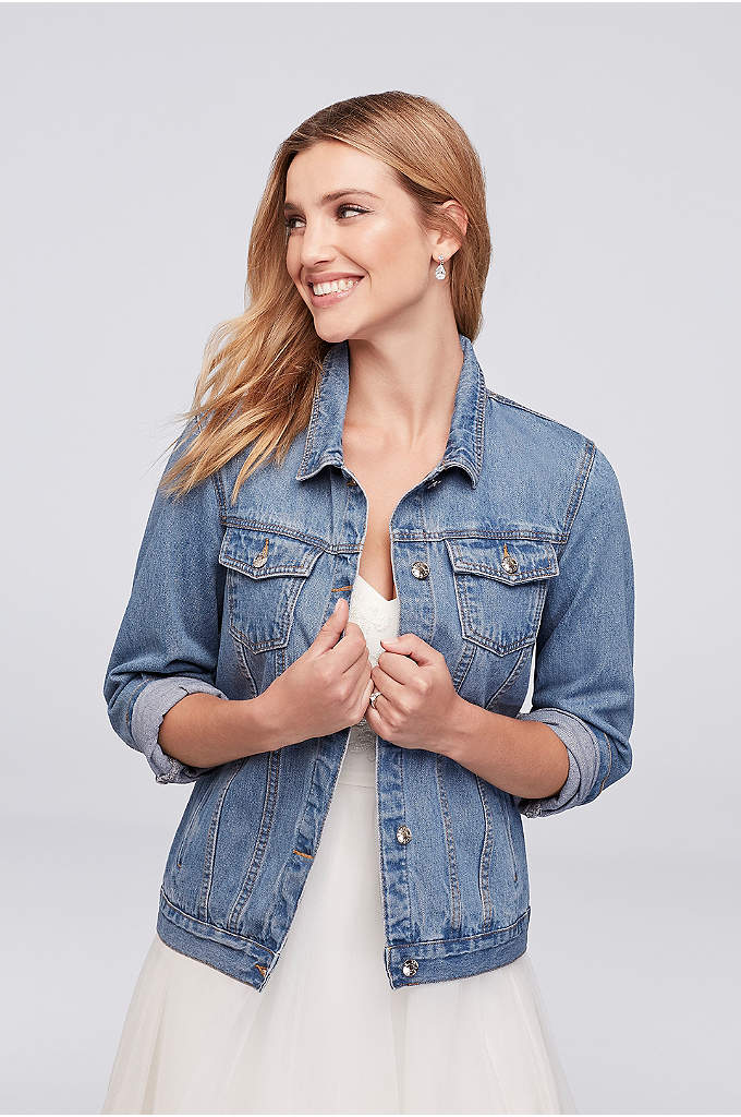 Embroidered Bride Denim Jacket - The essential finishing touch for a fun and