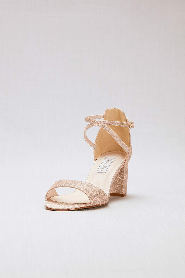 Champagne Shoes Heels Flats And Sandals In Champage Gold