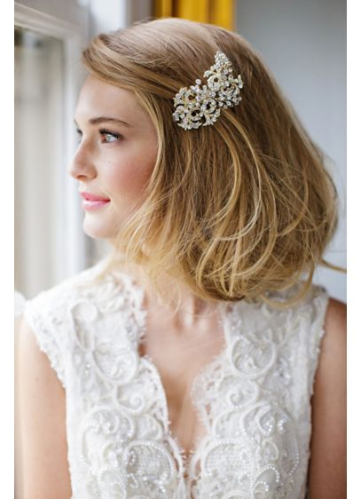 Crystal Filigree Hand-Wired Hair Comb - Wedding Accessories