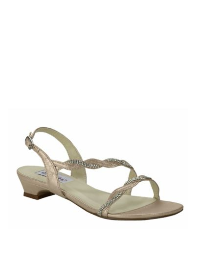 Dyeables Grey (Satin Sandals with Braided Crystal Straps)