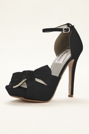 Dyeables Black;Blue;Grey;Ivory;Pink;Purple;Red;White Pumps (Jay Dyeable Platform Peep Toe Pump)