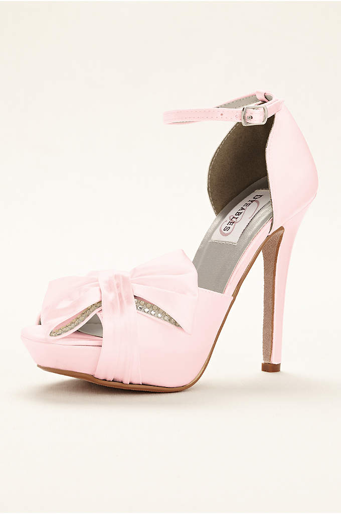 Jay Dyeable Platform Peep Toe Pump - What's better than bows and rhinestones? The Jay