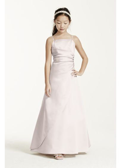 Long Pink Structured David's Bridal Bridesmaid Dress