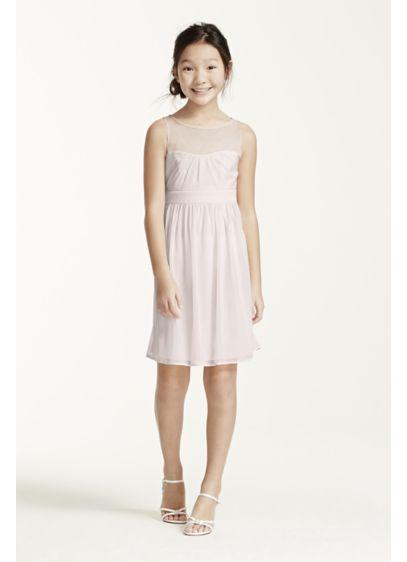 Short Pink Soft & Flowy Bridesmaid Dress