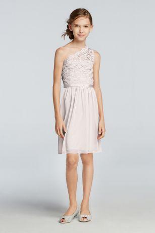 Pink Short One Shoulder Dress