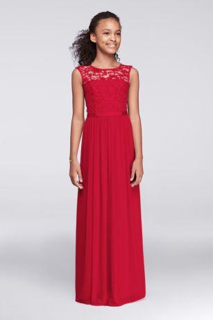 Long Sheath Cap Sleeves Dress - David's Bridal