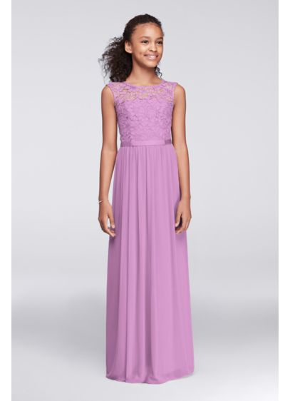 Long Purple Soft & Flowy Bridesmaid Dress