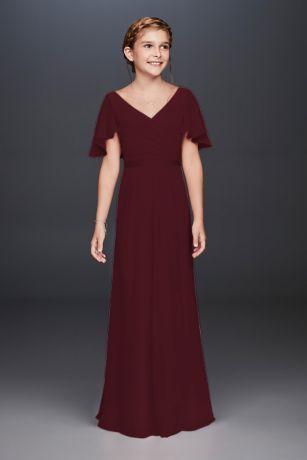 Long Sheath Short Sleeves Dress -