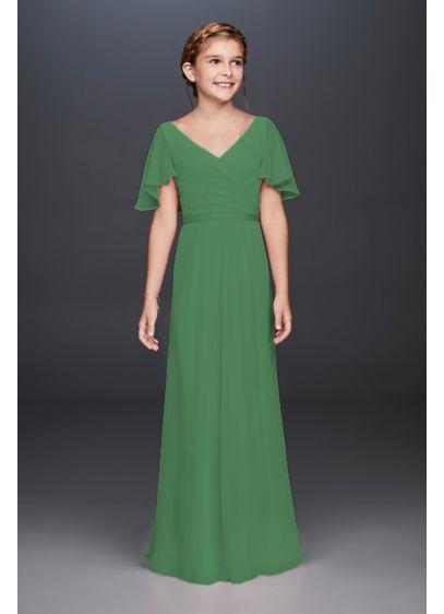 Long Green Soft & Flowy Bridesmaid Dress