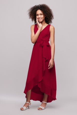 Weap Faux Bridesmaid Dress