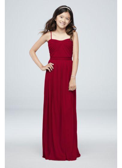 Long Pink Soft & Flowy Bridesmaid Dress