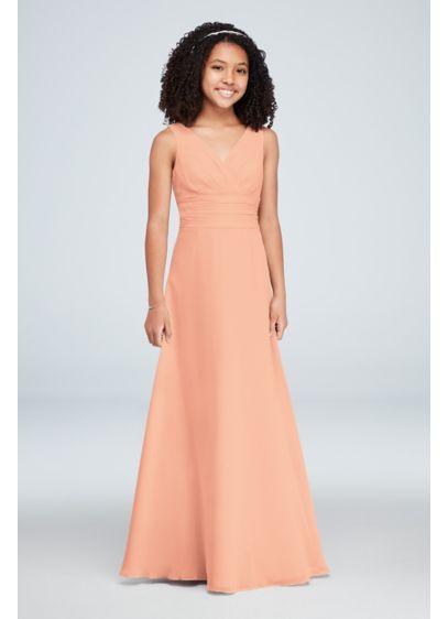 Green (Chiffon Surplice Tank Junior Bridesmaid Dress)
