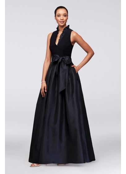 Long Ballgown Halter Cocktail and Party Dress - Jessica Howard
