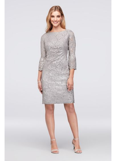 5a8f34d0025 Short Sheath 3 4 Sleeves Cocktail and Party Dress - Jessica Howard