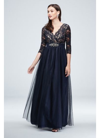 Long Ballgown 3/4 Sleeves Formal Dresses Dress - Jessica Howard