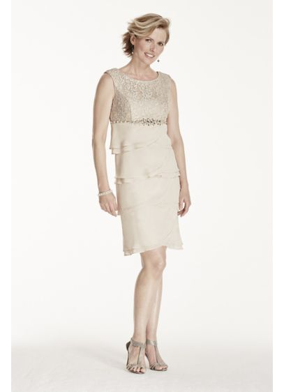 Short Sheath Cap Sleeves Cocktail and Party Dress - Jessica Howard