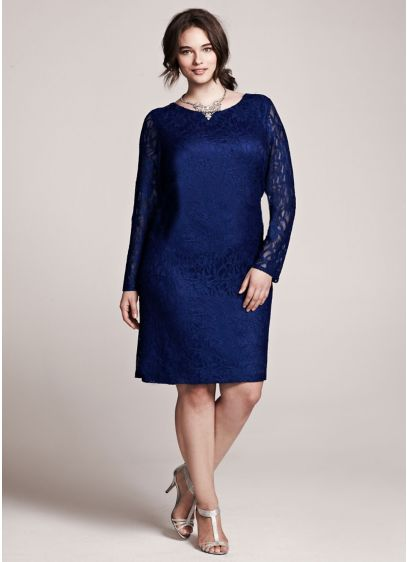 Short Sheath Long Sleeves Cocktail and Party Dress - Jessica Howard