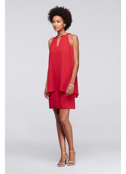 Short A-Line Halter Cocktail and Party Dress -