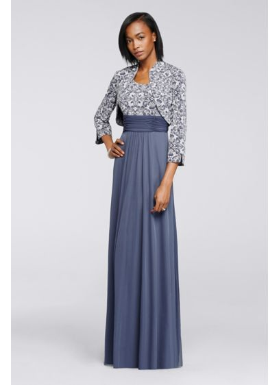 Long A-Line Jacket Cocktail and Party Dress -