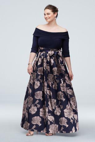Long Ballgown Off the Shoulder Dress - Jessica Howard