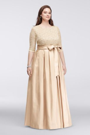 Plus Size Formal Gown Champagne