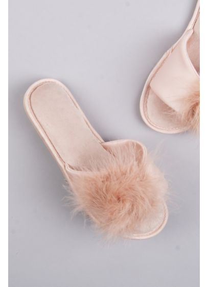 Jessica Simpson Feathered Slide Slippers - Give your toes a break (and show off
