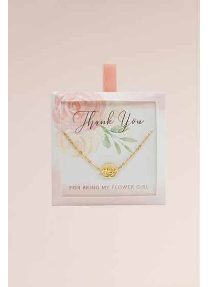 Thank You for Being My Flower Girl Rose - Thank your flower girl for her sweet contribution