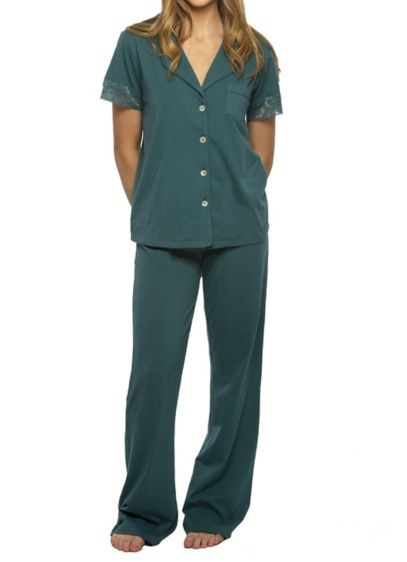 Green (Jersey Long Pant PJ Set)
