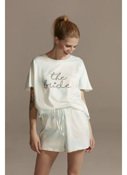 The Bride Tie-Dye Pajama Tee and Shorts Set - Wedding Gifts & Decorations