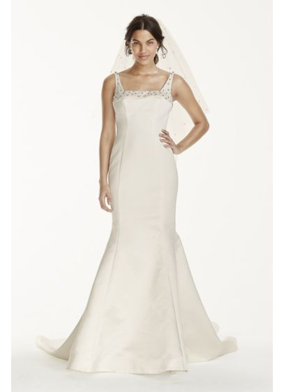 A-Line Cap-Sleeve Square-Neck Lace Wedding Dress - UCenter Dress