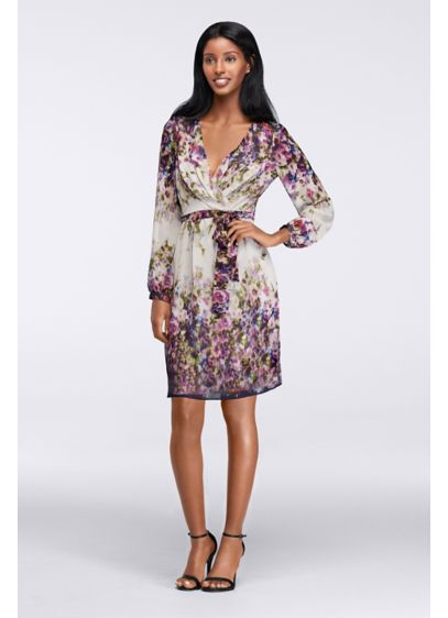Short A-Line Long Sleeves Cocktail and Party Dress - Jessica Simpson